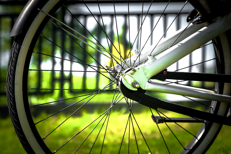 Bike wheel.