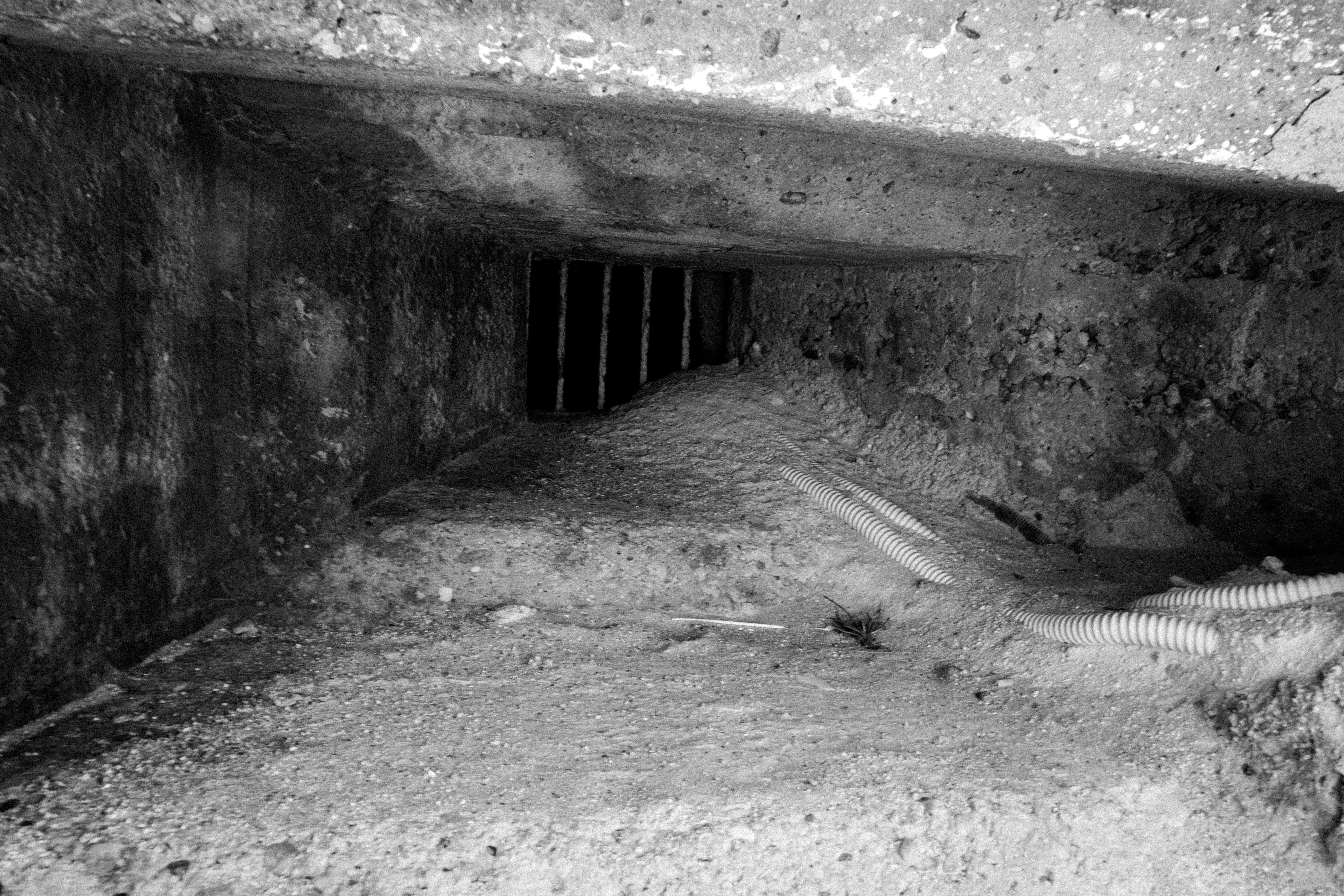 black and white bunker