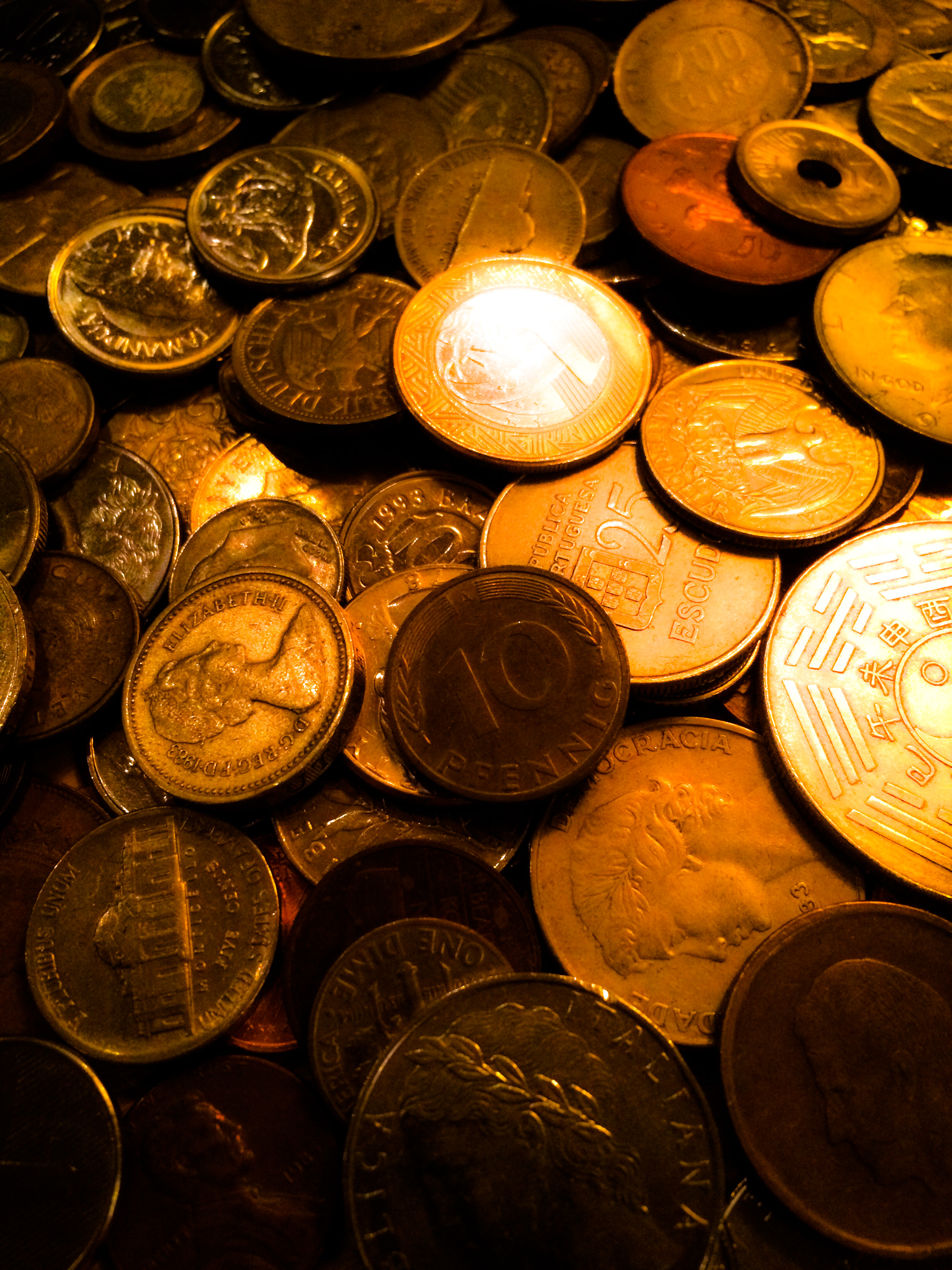 Shinning golden color of money