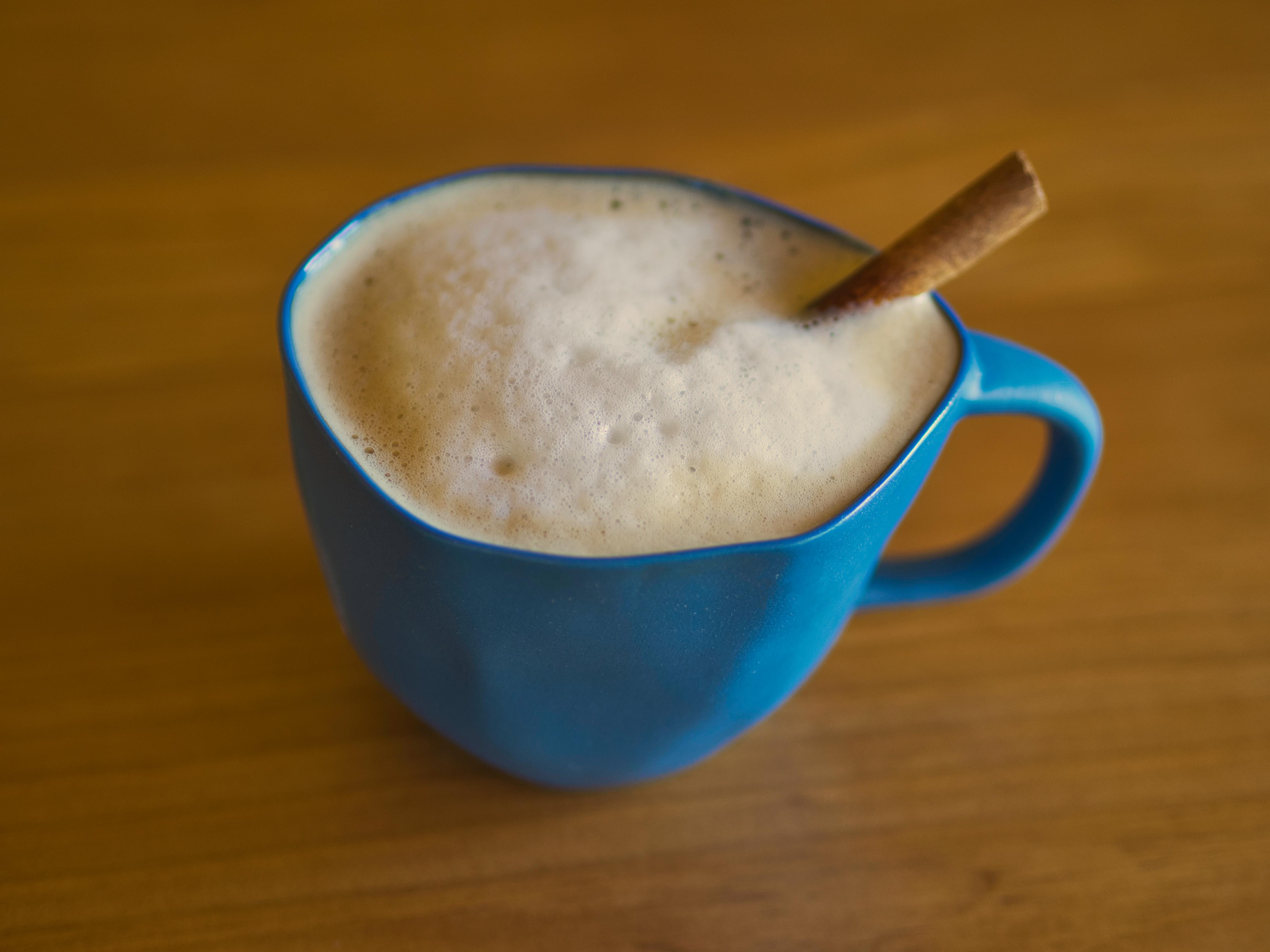 Home brewed cafe latte