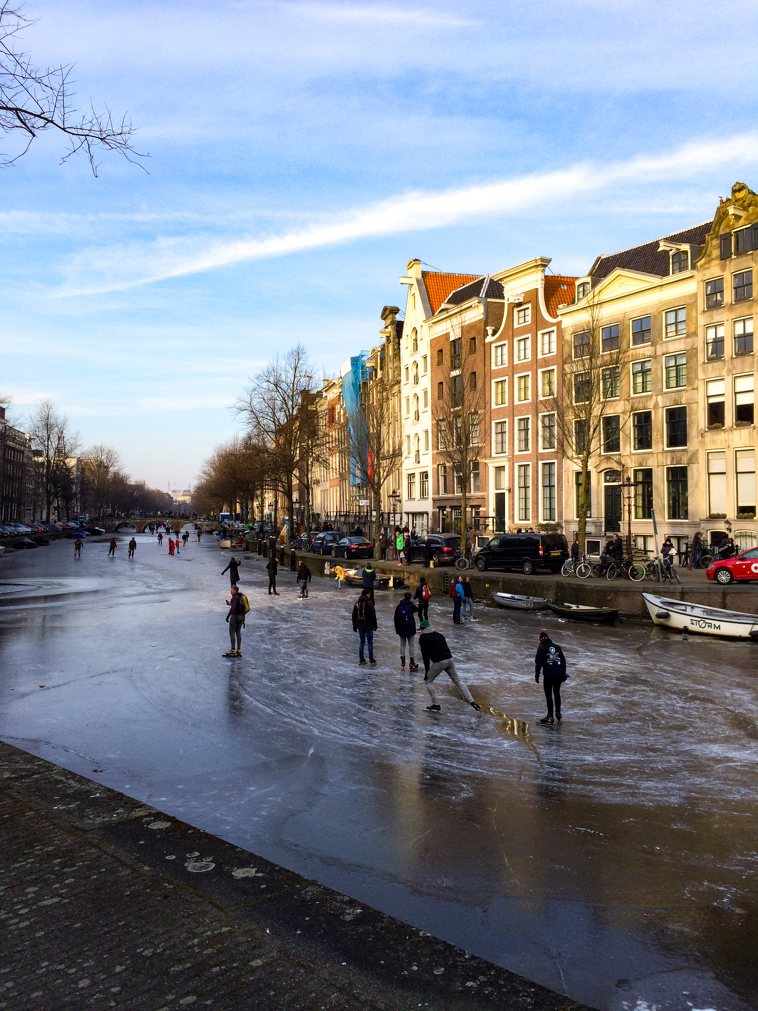 Icy Canal in Amsterdam