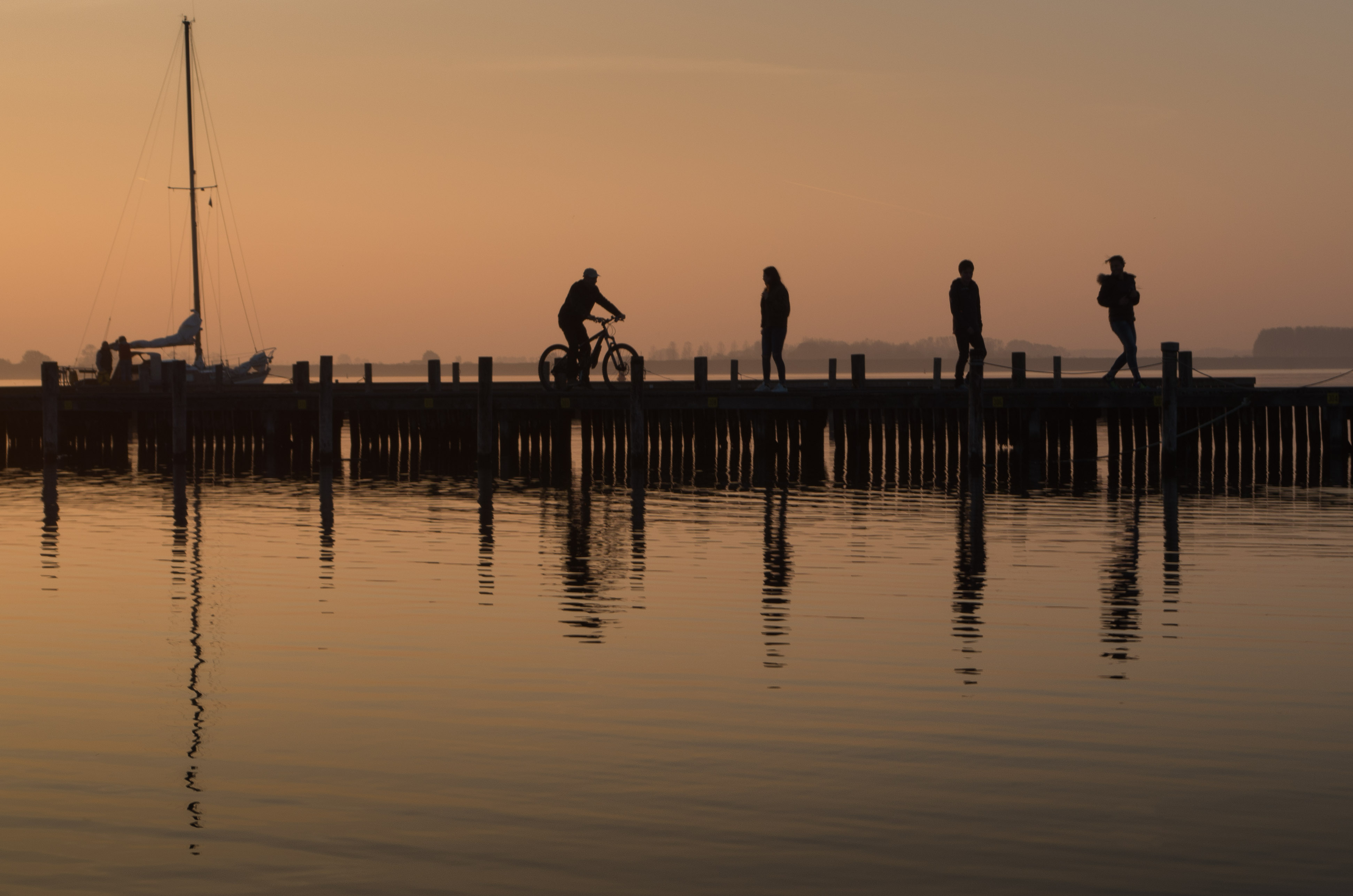 Reflections from the jetty