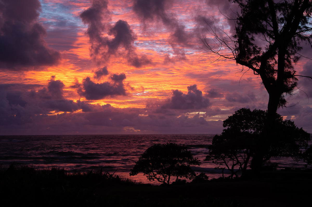 Lydgate State Park, Kauai, Hawaii at sunrise