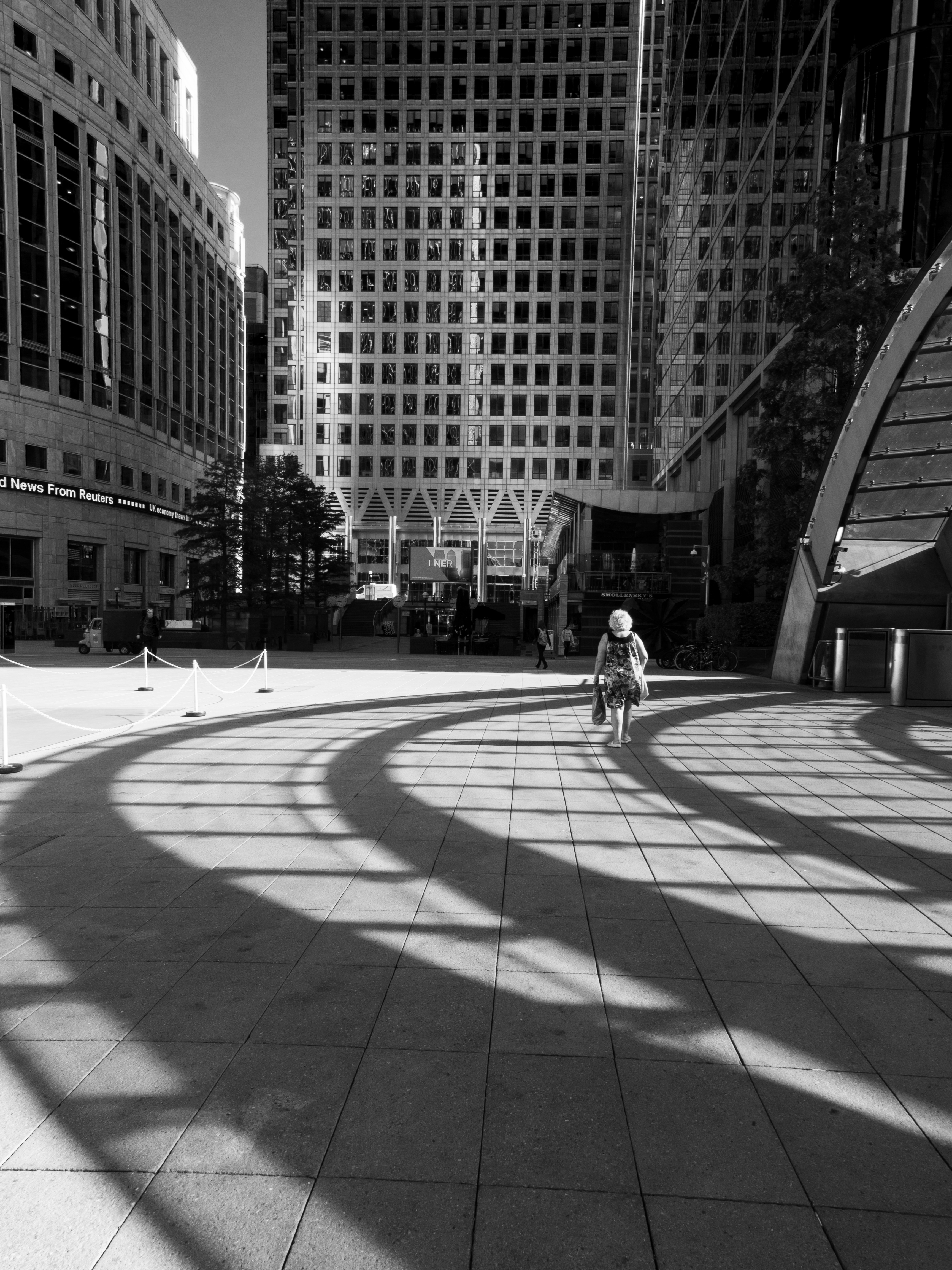 Walk The Line, this was shot outside Canary Wharf tube station London