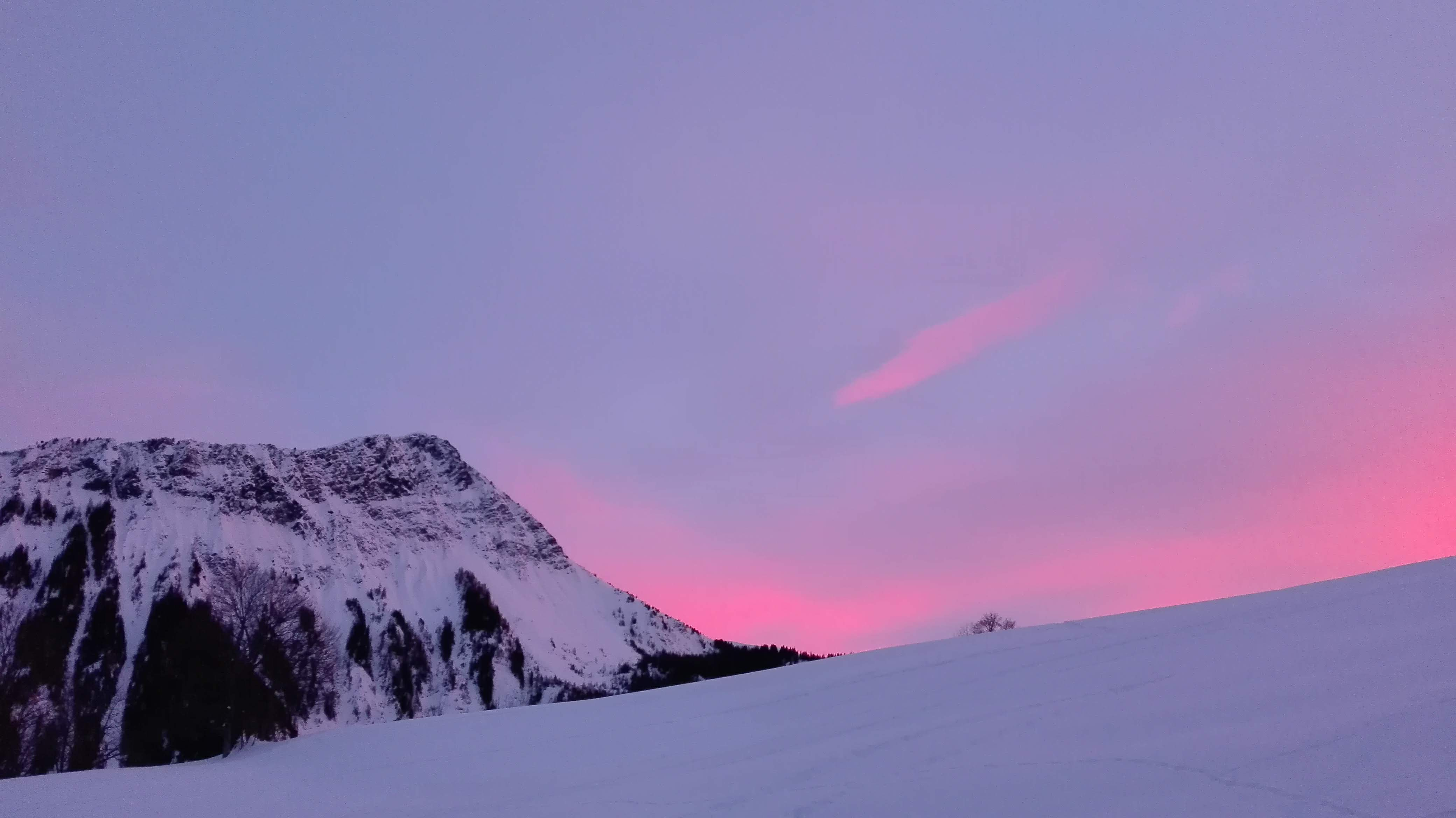 Sunset over Le Corbier, 8 feb 2019