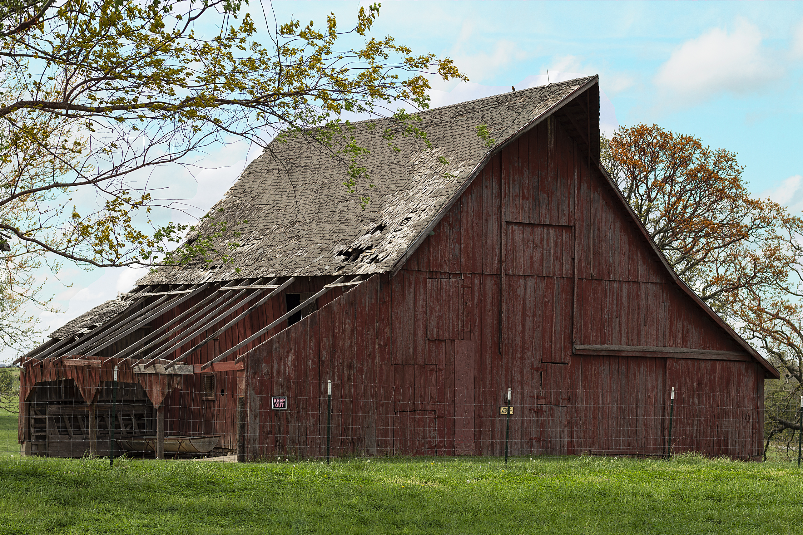 old barn - front - color