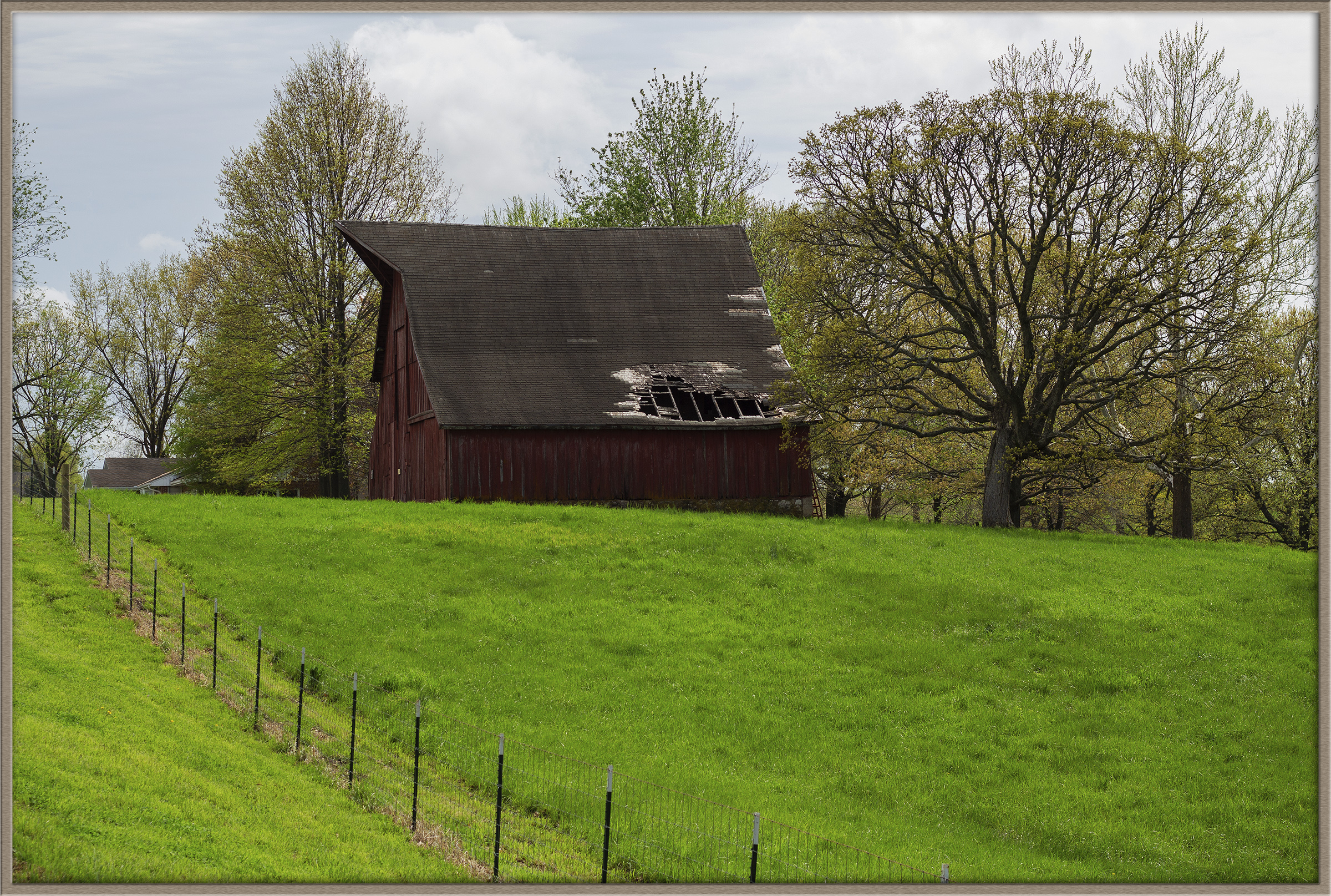old barn - hill - color