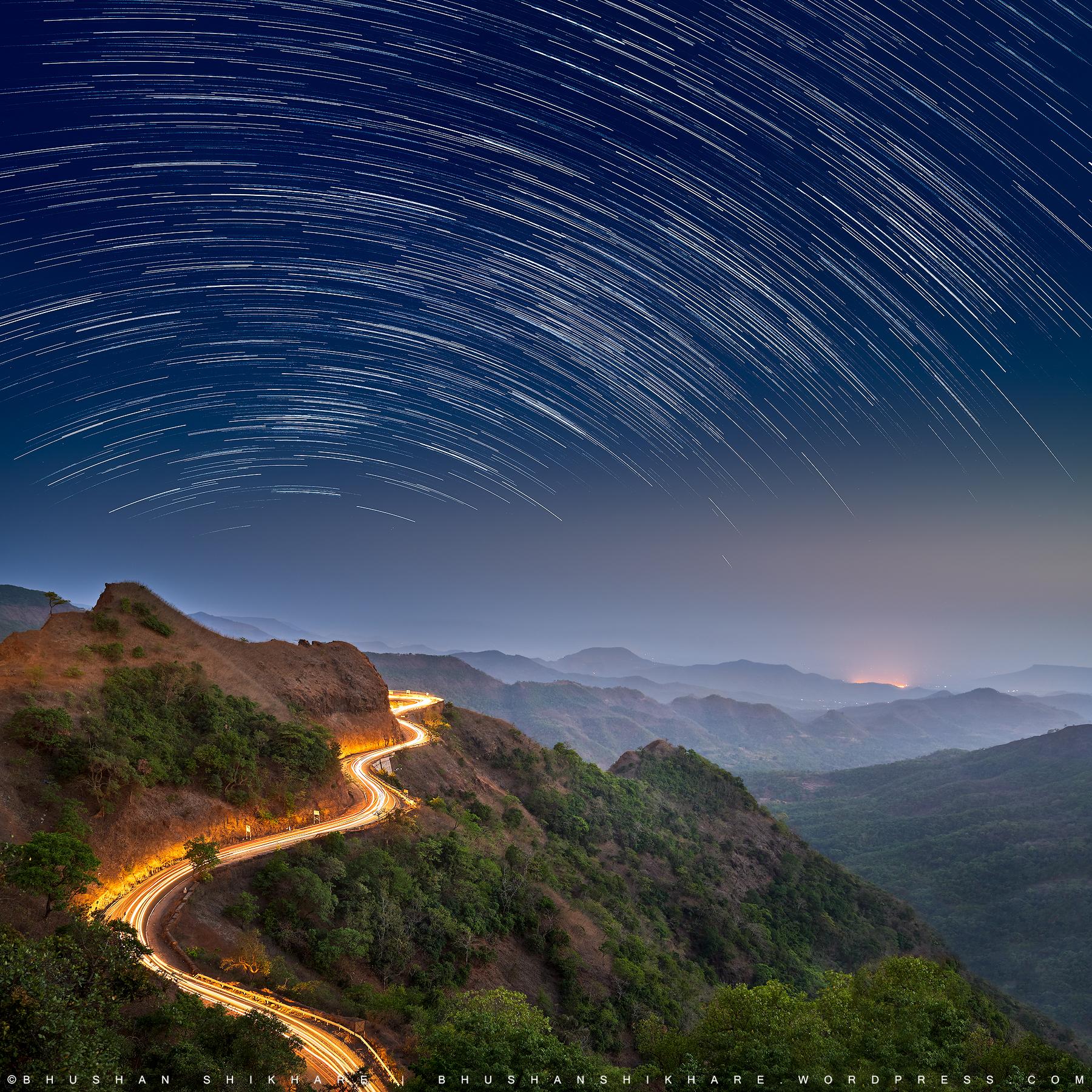 Star Trail at Gaganbawda Ghat