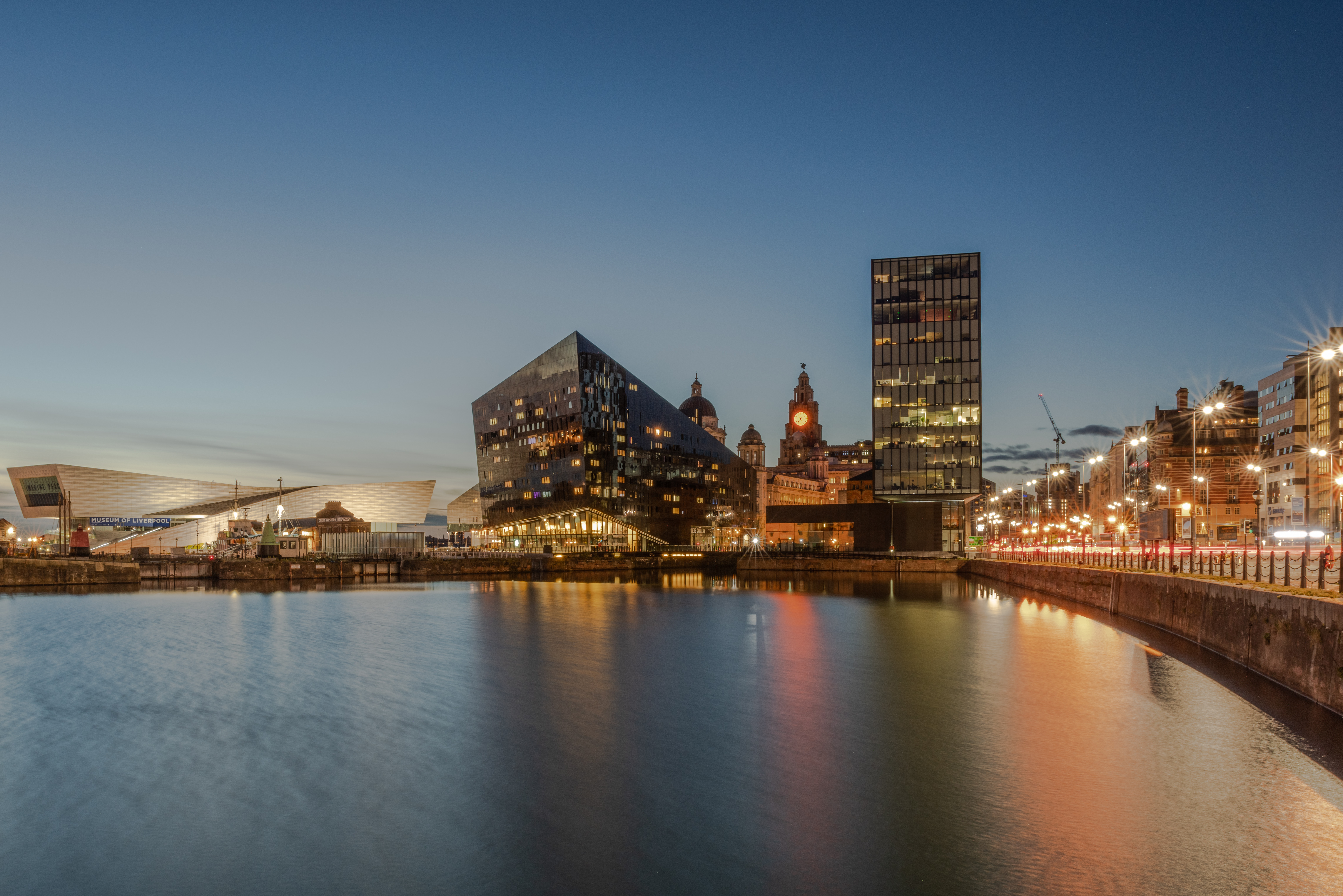 Canning Dock, Liverpool at Blue Hour