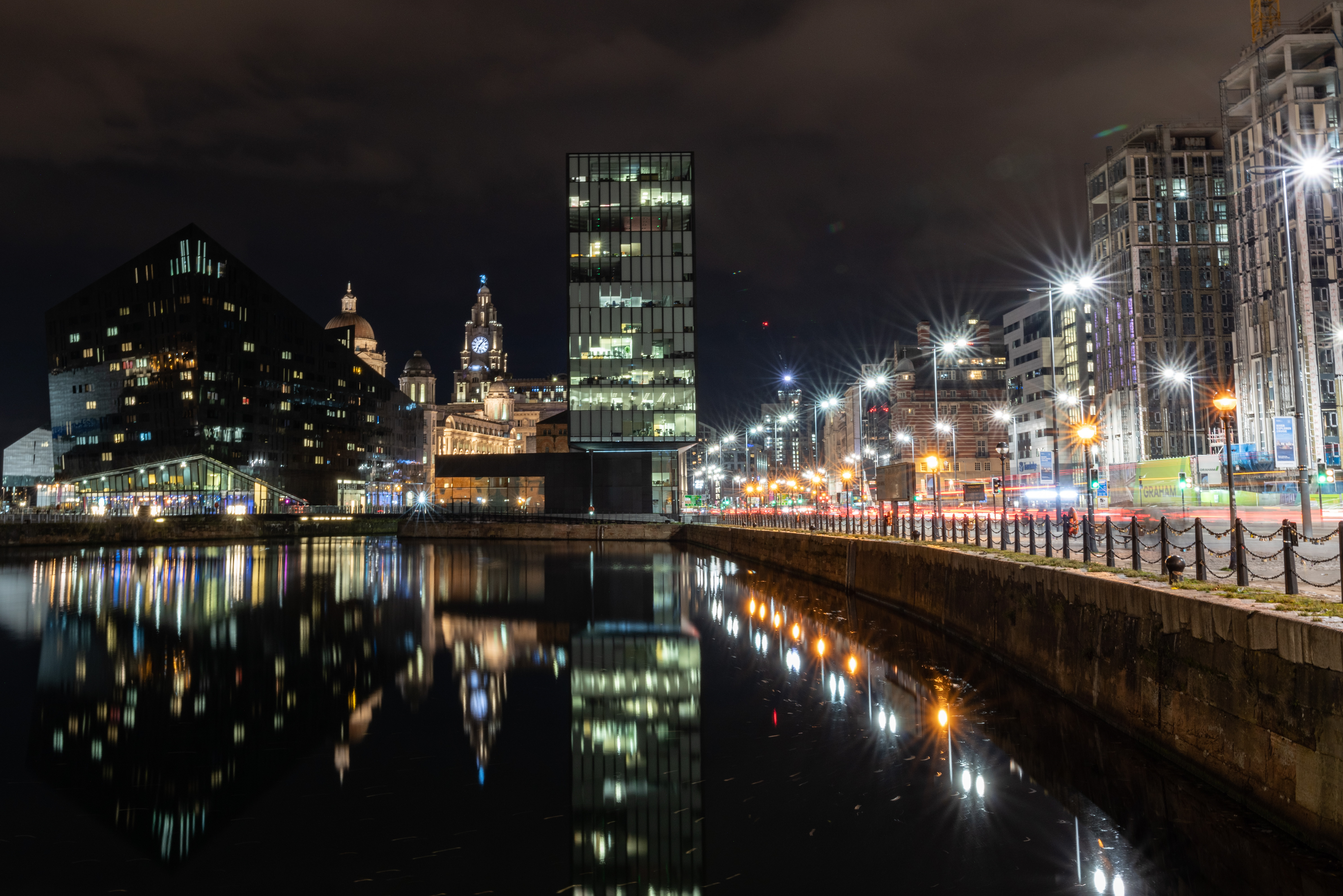 Canning Dock at night