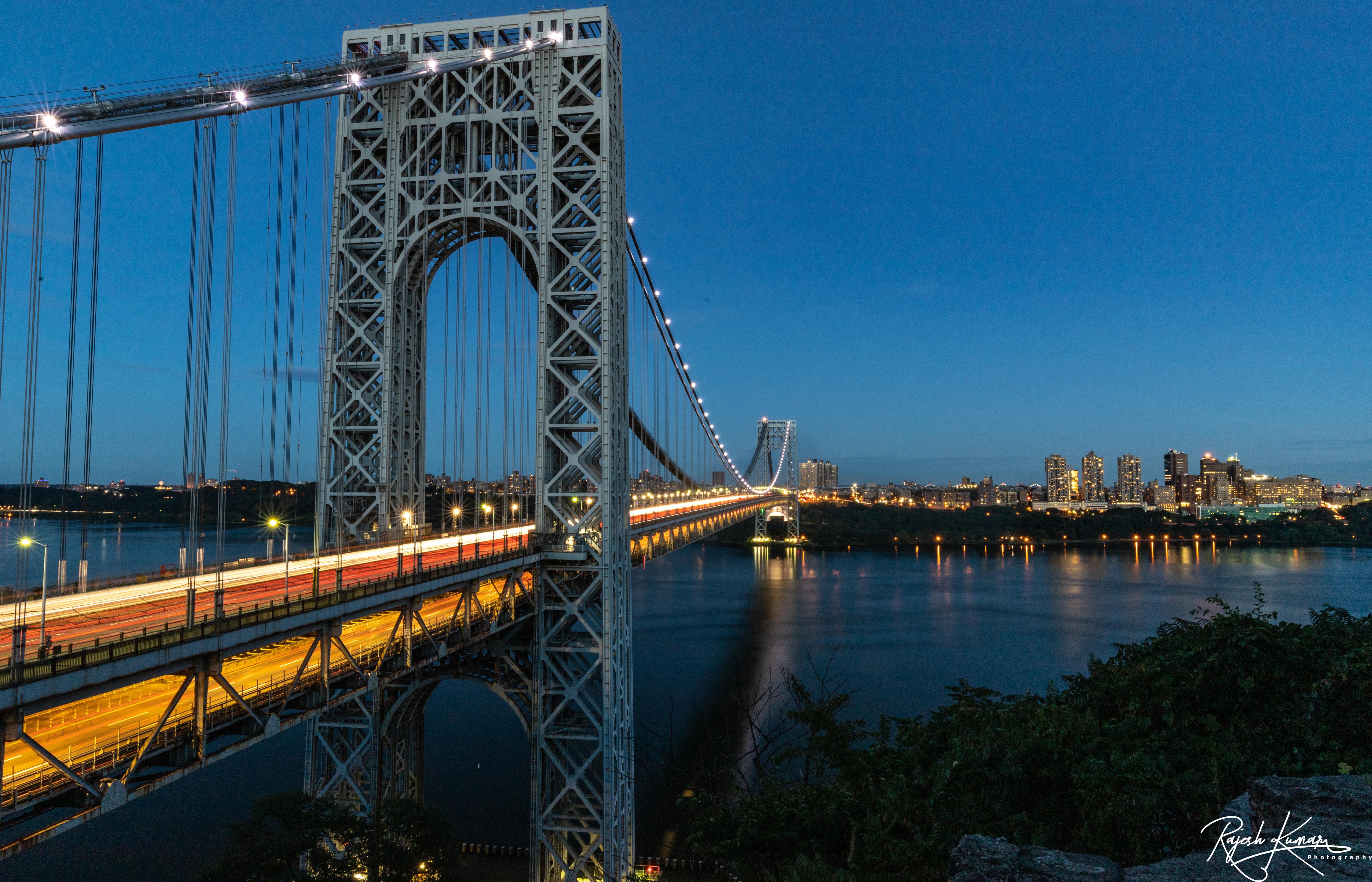 George Washington Bridge at blue hour