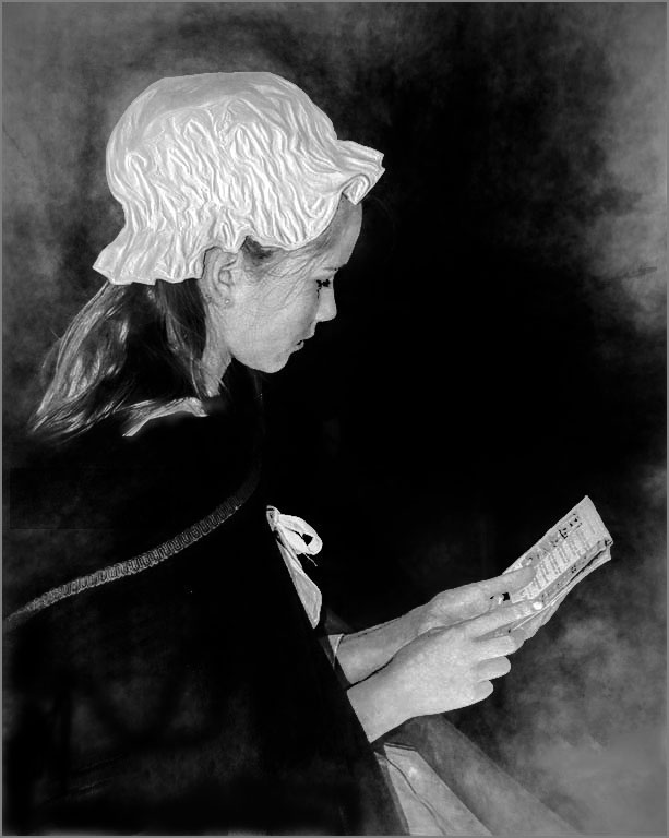 Young Lady Studying