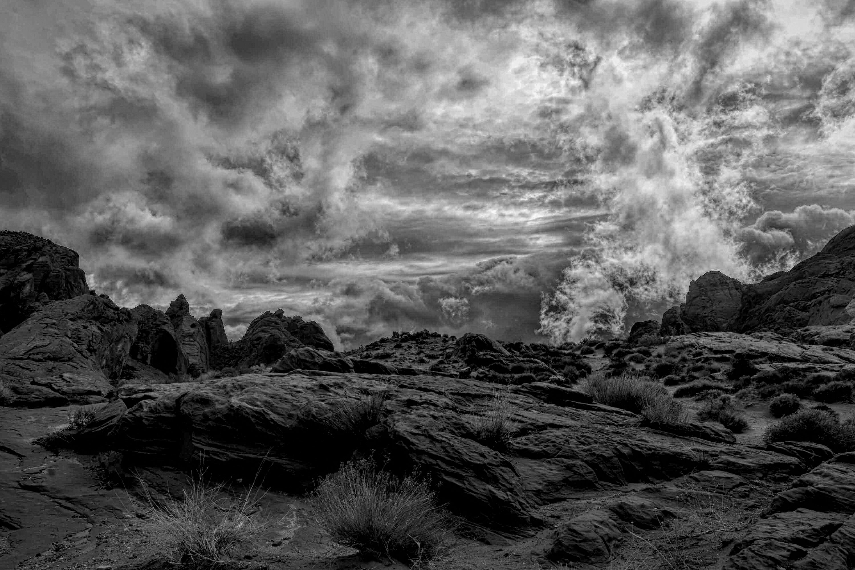Winter Storm in the Valley of Fire near Las Vegas Nevada