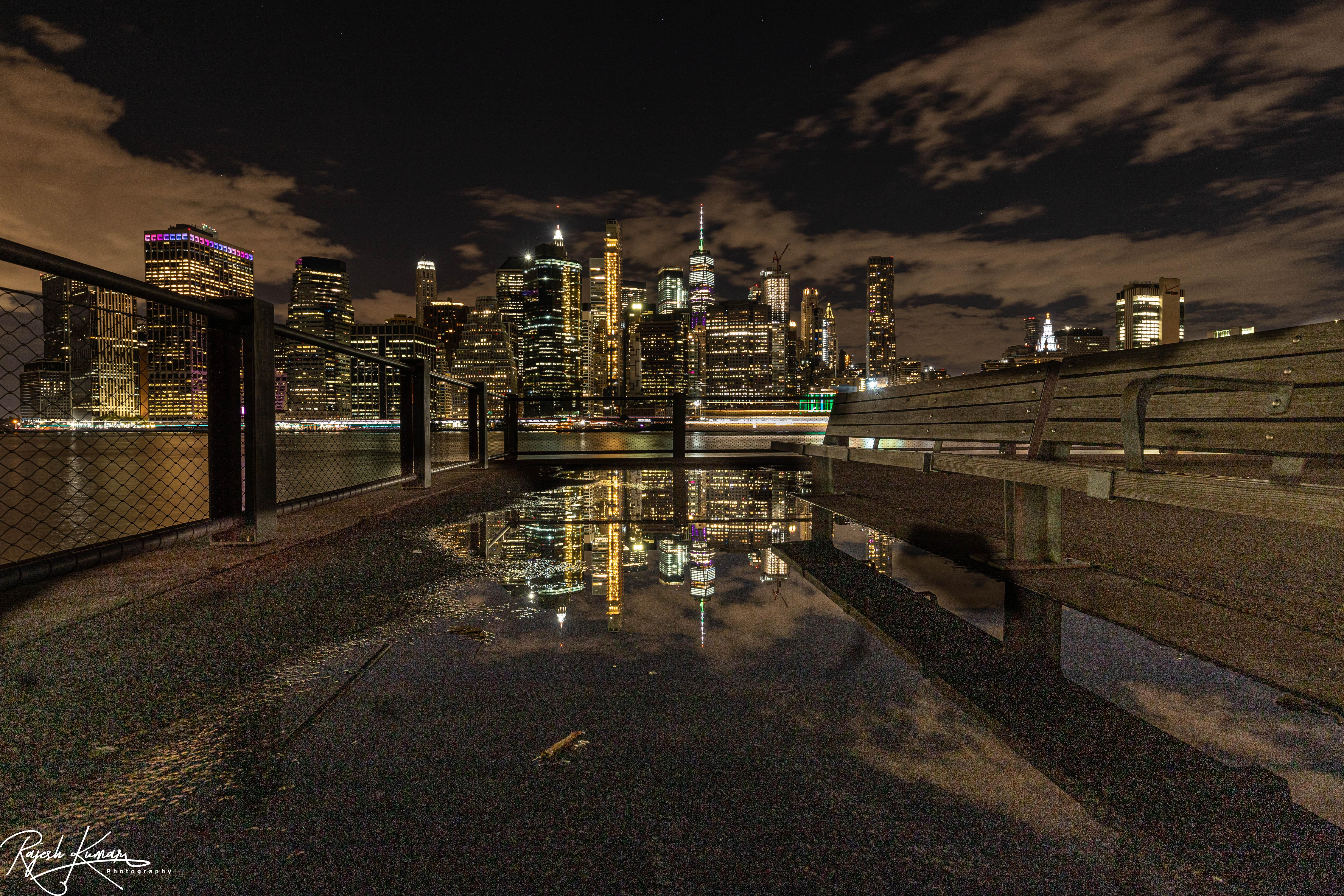 Downtown Manhattan reflection..