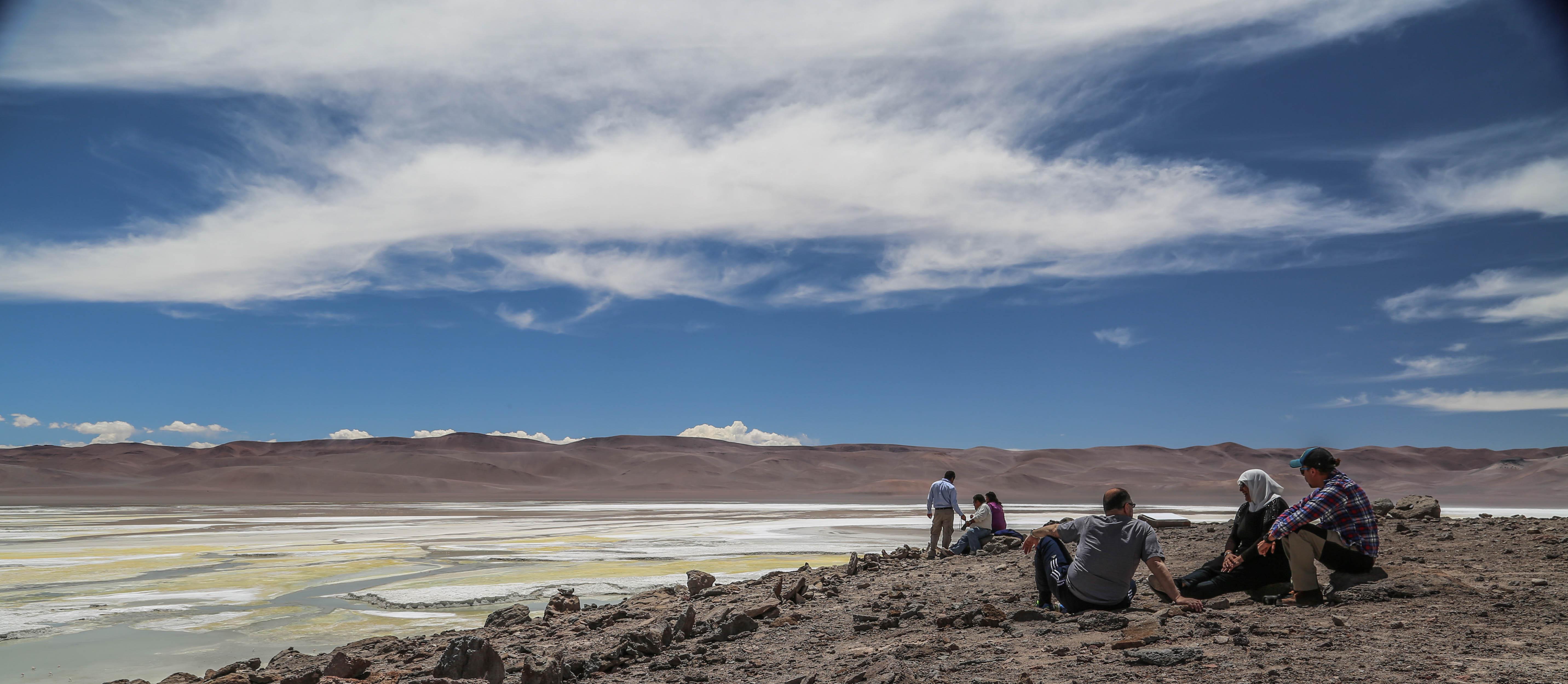 Tourists Atacama desert