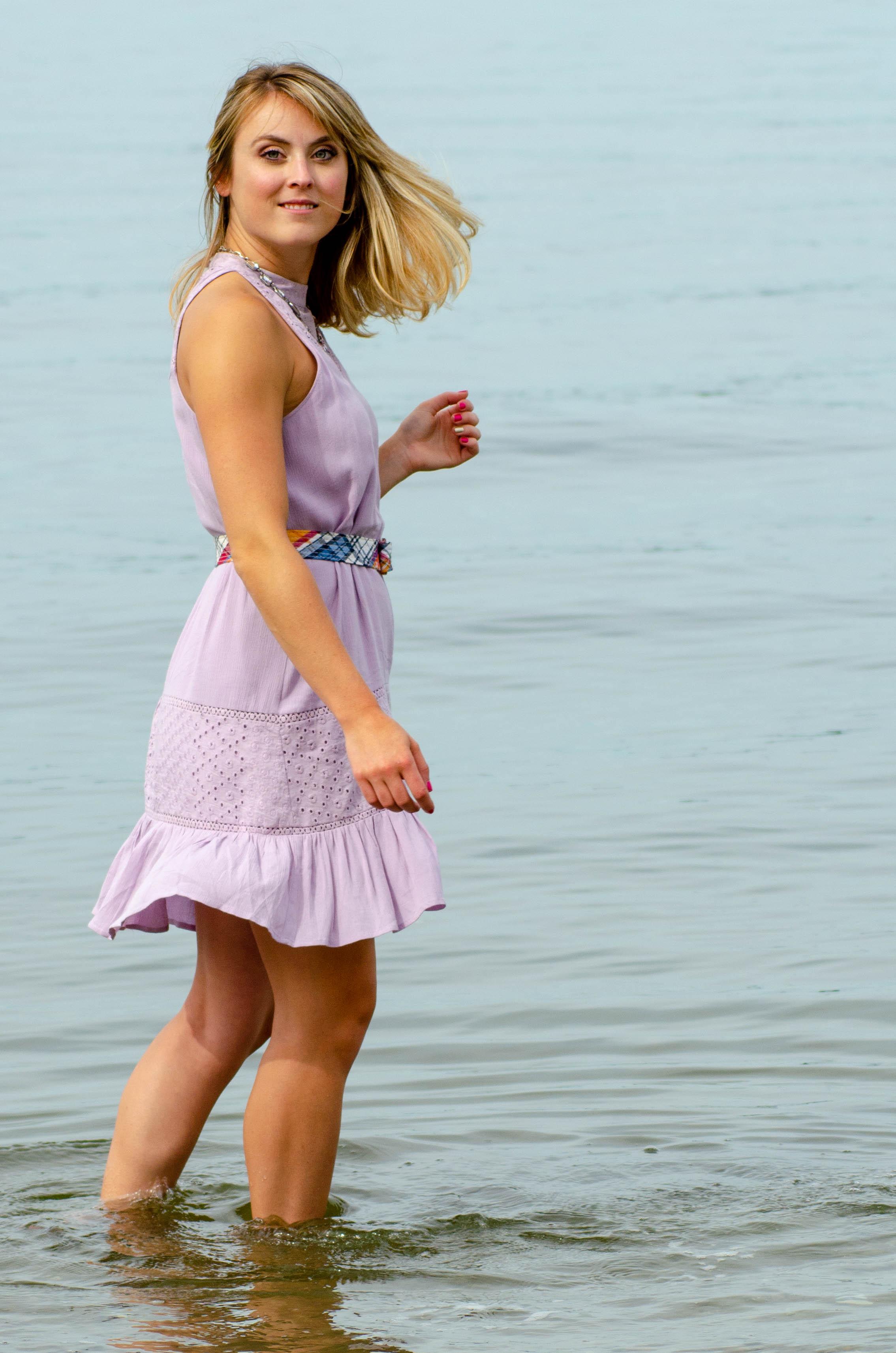 Lyndsey at beach