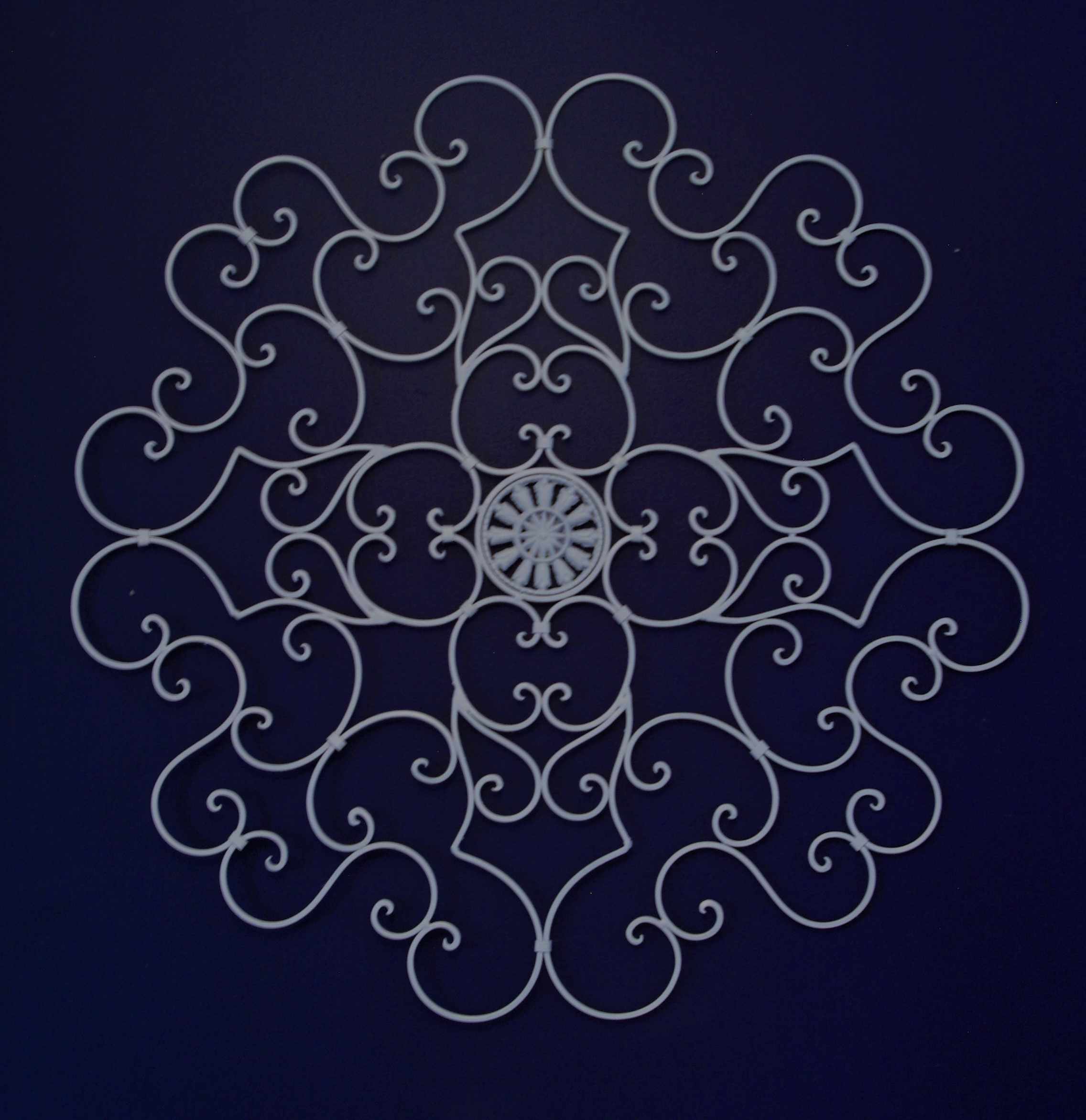 Iron decoration about 3 feet across